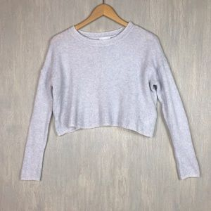 UO Cooperative wool camel cropped sweater S blue